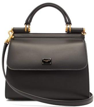 Dolce & Gabbana Sicily Medium Leather Bag - Black