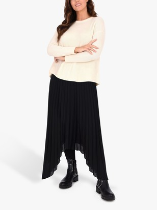 Live Unlimited Curve Pleated Skirt, Black
