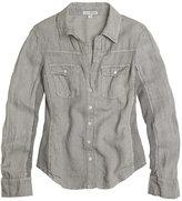 Twisted Seam Linen Shirt
