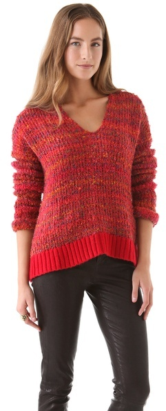 April May April, may Etoile V Neck Sweater