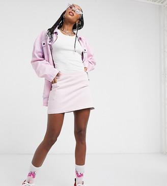 Collusion denim mini skirt in pink