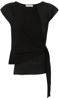 Dorothee Schumacher panelled side tie T-shirt