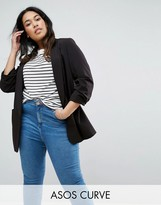 Asos Mix & Match Rouched Sleeve Blazer