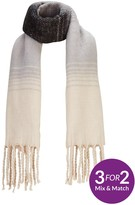 Very Mono Brushed Ombre Scarf
