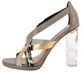 Diane von Furstenberg Embossed Cage Sandals