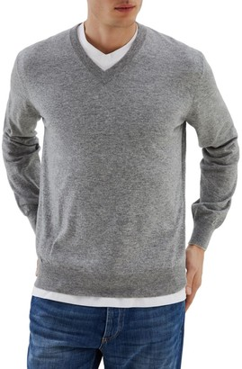 Brunello Cucinelli Paprika Cashmere V-Neck Sweater