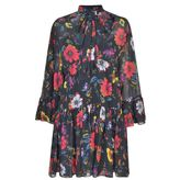 McQ Floral Fluted Dress