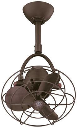 Matthews Fan Diane Oscillating Directional Ceiling Fan, Textured Bronze
