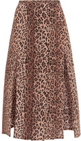 RIXO London - Georgia Pleated Leopard-print Silk Skirt - Leopard print