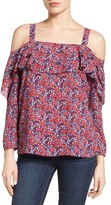 NYDJ Petite Women's Ruffled Off The Shoulder Top