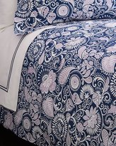 Sferra King Navy & Lilac Floral Duvet Cover