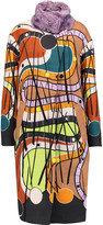 Peter Pilotto Pin mohair and cotton-blend and printed wool coat