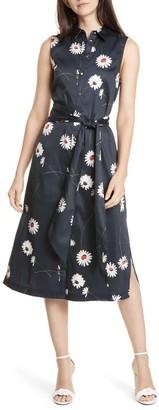 Ted Baker Daisy Print Midi Shirt Dress