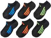 adidas Boys 6-Pack ClimaLite No-Show Socks