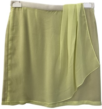 Rue Du Mail Yellow Polyester Skirts