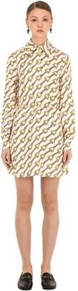 Gucci Printed Silk Twill Mini Dress