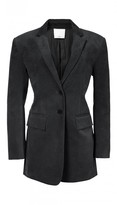 Tibi Moleskin Oversized Blazer with Removable Straps
