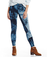 Hue Wash-Blocked Essential Denim Leggings