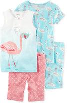 Carter's 4-Pc. Flamingo Cotton Pajama Set, Little Girls (2-6X) & Big Girls (7-16)