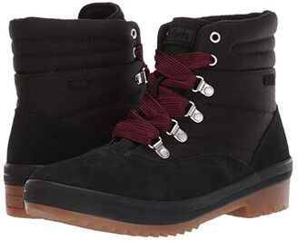 Keds Camp Boot Suede + Nylon Thinsulate WCX (Black Suede/Nylon) Women's Boots
