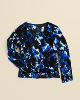 Aqua Girls' Abstract Print Top - Sizes S-XL