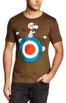 Logoshirt Men's Peanuts Snoopy Target Crew Neck Short Sleeve T-Shirt