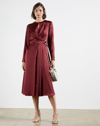 Ted Baker Side Wrap Pleated Dress