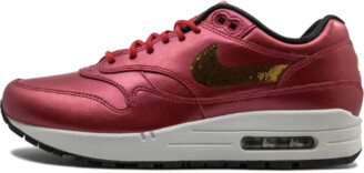 Nike Womens Air Max 1 'Gold Sequins' Shoes - Size 5.5W