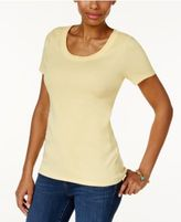Charter Club Cotton Scoop-Neck T-Shirt, Created for Macy's