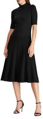 Lauren Ralph Lauren Mockneck Knee-Length Dress