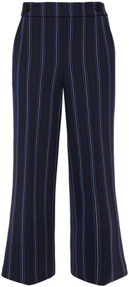 Claudie Pierlot Cropped Striped Woven Straight-leg Pants
