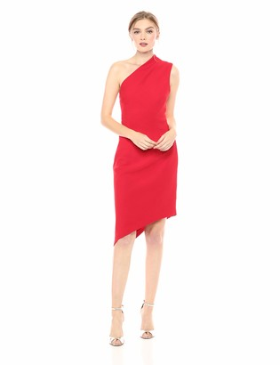Finders Keepers findersKEEPERS Women's Goodbye One Shoulder Asymmetric Crepe Sheath Cocktail Dress