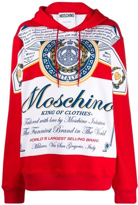 Moschino oversized King of Clothes hoodie