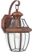 Quoizel Newbury Medium 1-Light Outdoor Fixture with Aged Copper Finish