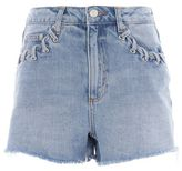 Topshop Moto whip stitch mom shorts