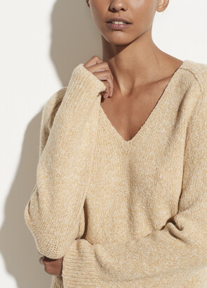 Vince Cashmere Saddle Sleeve V-Neck Pullover