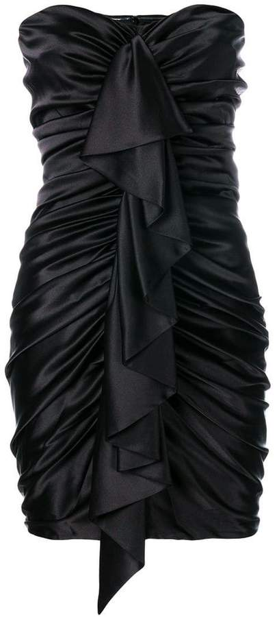 Alexandre Vauthier ruched ruffle trim dress
