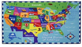 Wildkin USA Map Rug