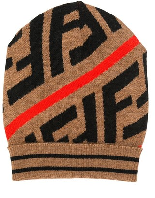 Fendi colour block beanie
