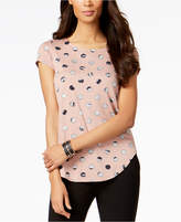 Alfani Dot-Print Cap-Sleeve Top, Created for Macy's