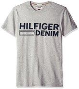Tommy Hilfiger Men's Basic Crew Neck Logo Short Sleeve T-Shirt