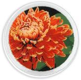 "Peggy Karr Glass Chrysanthemums 8"""