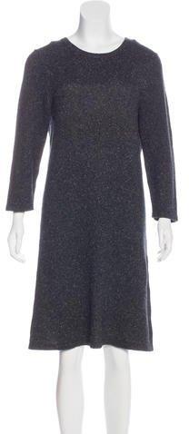 Magaschoni Silk & Cashmere Sweater Dress