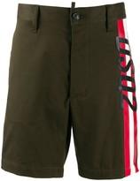 DSQUARED2 side striped logo shorts
