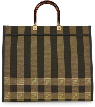 Fendi Sunshine striped canvas tote