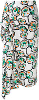 Marni printed draped skirt - women - Cotton - 46