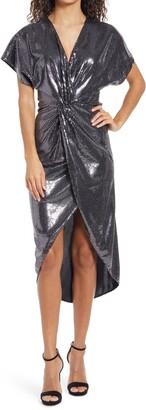 Saylor Roslynn Sequin Cross Front High/Low Dress