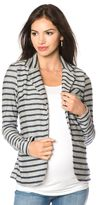 A Pea in the Pod 1 Button Closure French Terry Maternity Jacket