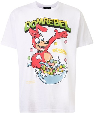 Dom Rebel logo graphic print T-shirt