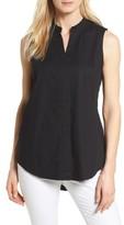 Eileen Fisher Petite Women's Stretch Organic Cotton Classic Collar Tunic